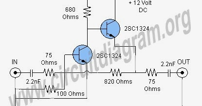 2 Kinds TV Cable Booster Amplifier Electronics Circuit