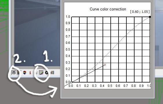 Curve color correction