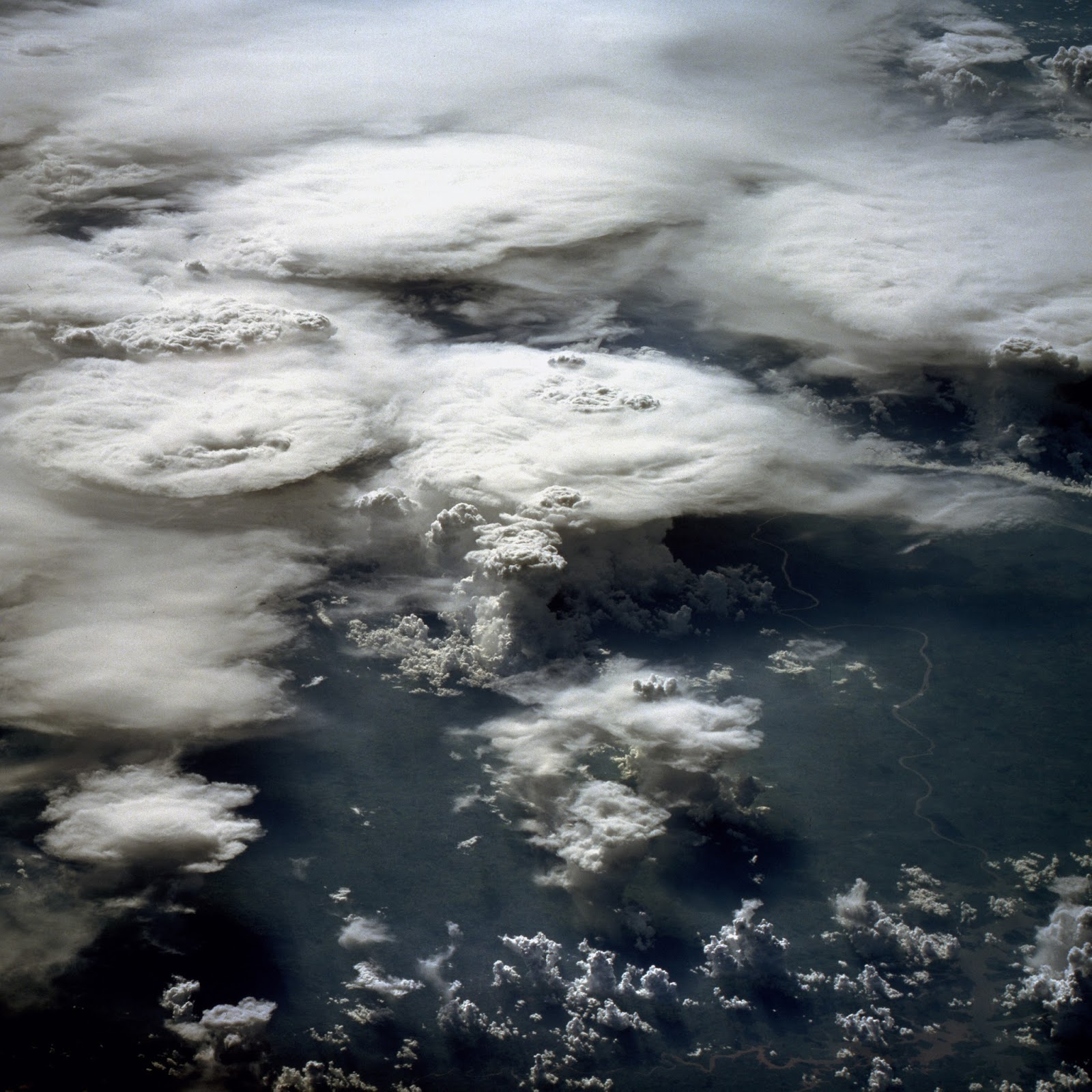 Anvil Cloud, Western Africa by NASA