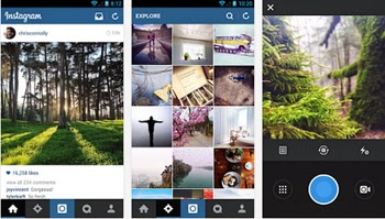 Captura y comparte con Instagram para Android