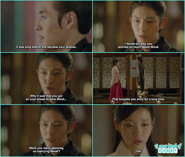 king wang so then come and ask Hae Soo if Wook telling the truth about his and her relation and hae soo accept the tuth  - Moon Lovers Scarlet Heart Ryeo - Episode 19 (eng sub)