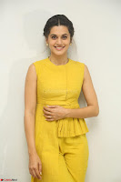 Taapsee Pannu looks mesmerizing in Yellow for her Telugu Movie Anando hma motion poster launch ~  Exclusive 091.JPG