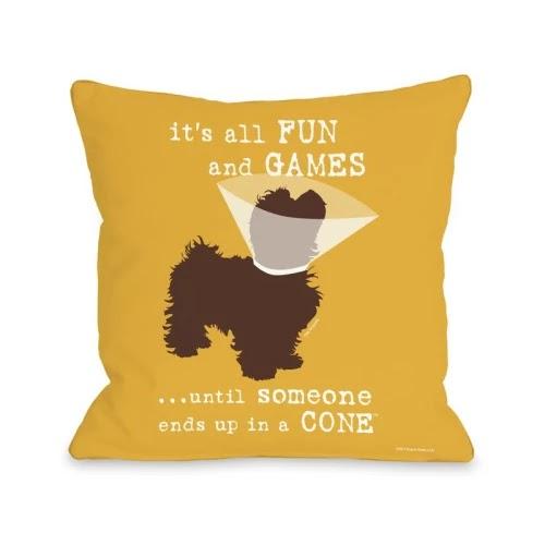 Borel Fun and Games Throw Pillow