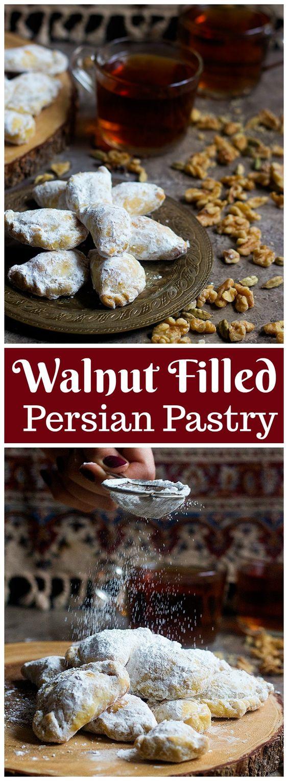 Walnut Filled Persian Pastry - Qottab