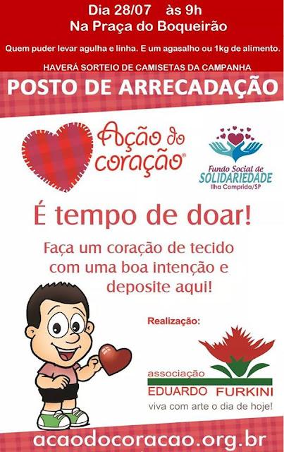 Ator Alexandre Camilo estará na Ilha nesta sexta 28/07 para Ação do Coração