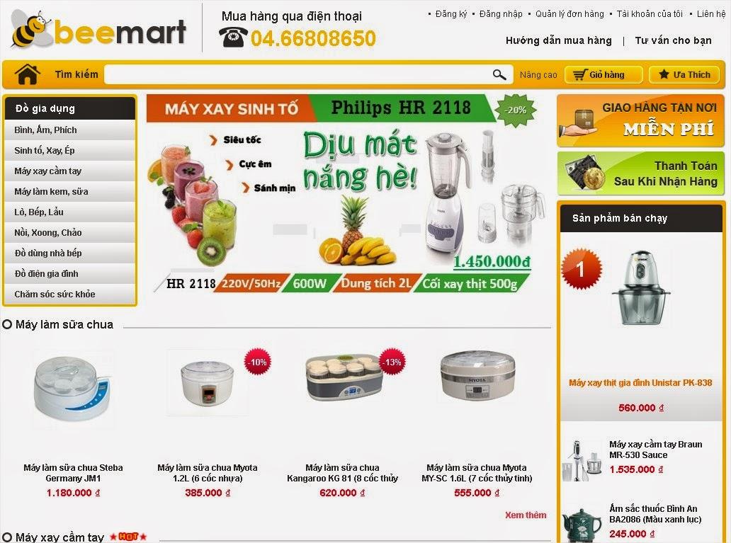 thiết kế website bán hàng gia dụng đẹp