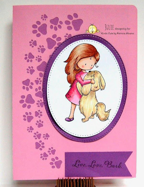 love card using happy puppy digital stamp