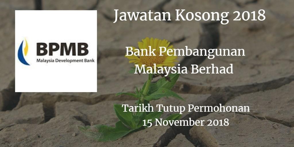 Jawatan Kosong BPMB 15 November 2018