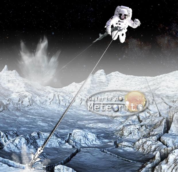 Andando na superfície de um cometa com arpões
