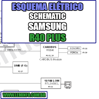 Esquema Elétrico Notebook Samsung R40 PLUS Laptop Manual de Serviço  Service Manual schematic Diagram Notebook Samsung R40 PLUS Laptop   Esquematico Notebook Placa Mãe Samsung R40 PLUS Laptop