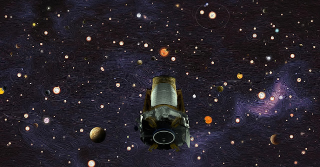 NASA's Kepler space telescope, shown in this artist's concept, revealed that there are more planets than stars in the Milky Way galaxy. (Courtesy NASA)