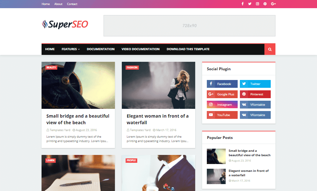Super Seo Optimized Blogger Template