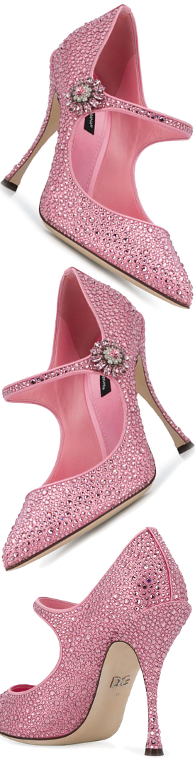 DOLCE & GABBANA Lori Mary Jane Pumps in Pink