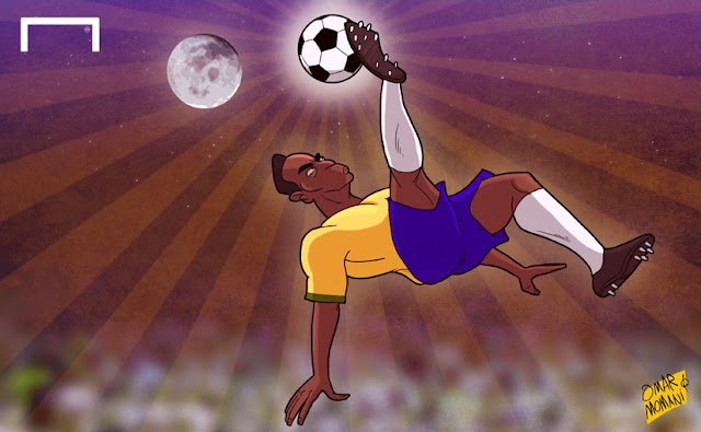 Pele cartoon caricature illustration