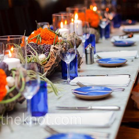 Decora 231 227 O Do Casamento Azul E Laranja Solteiras Noivas