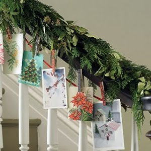 Modern country style christmas card display ideas - Christmas card display ideas ...