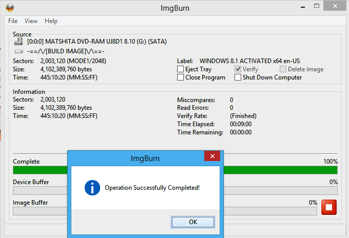 MAKE BOOTABLE WINDOWS 7, 8 DVD DISC FROM IMGBURN http://www.nkworld4u.in