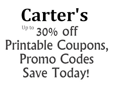 Carter's Printable Coupon January 2016