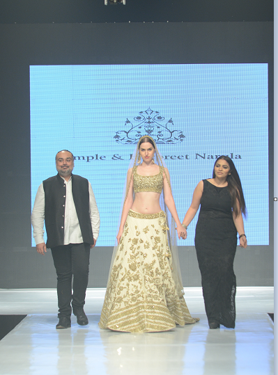 Rimple and Harpreet Narula with showstopper