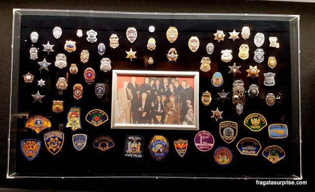 Distintivos de policial honorário colecionados por Elvis Presley