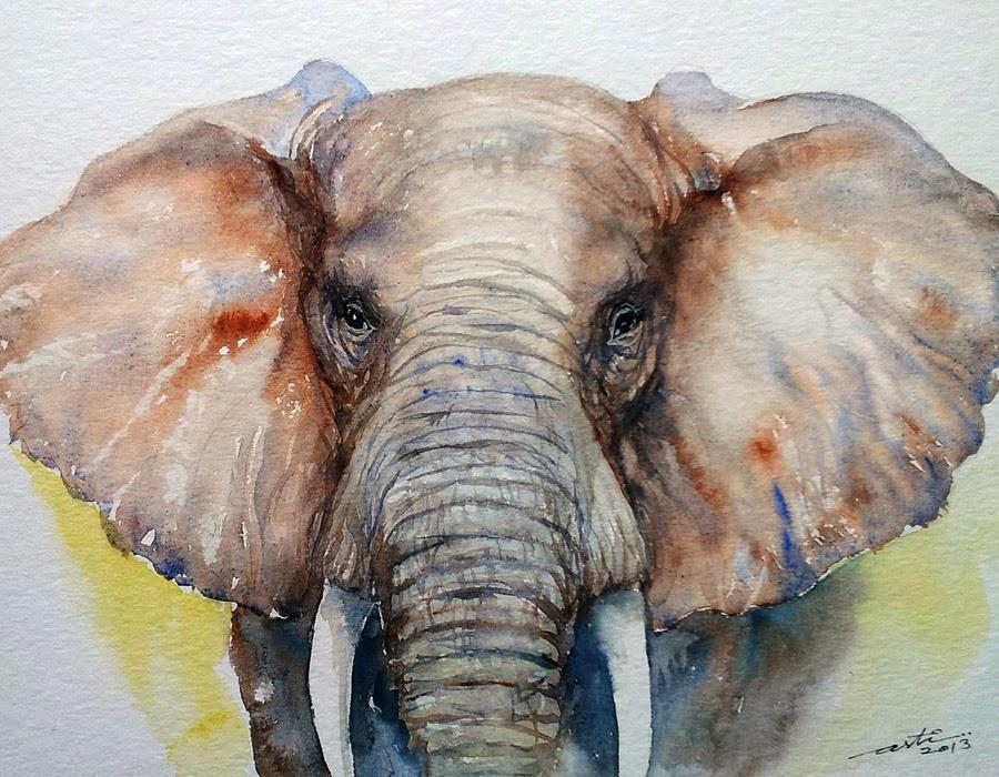 Baby Animal Acrylic Painting
