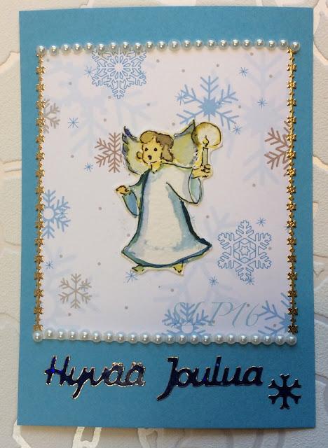 enkeli kortti akvarelli