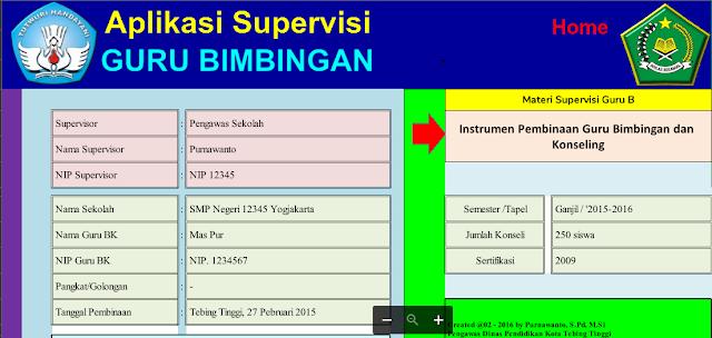 Aplikasi Supervisi Guru BK Terbaru