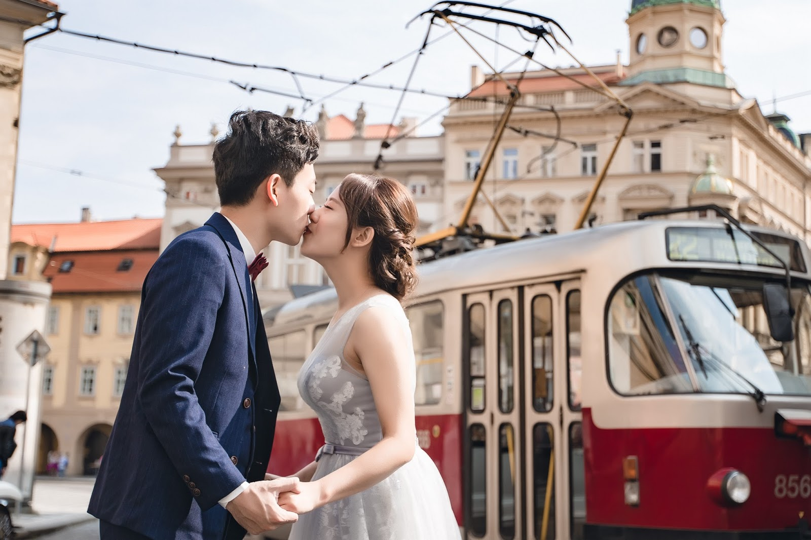 Pargue布拉格婚紗,海外婚紗,布拉格電車
