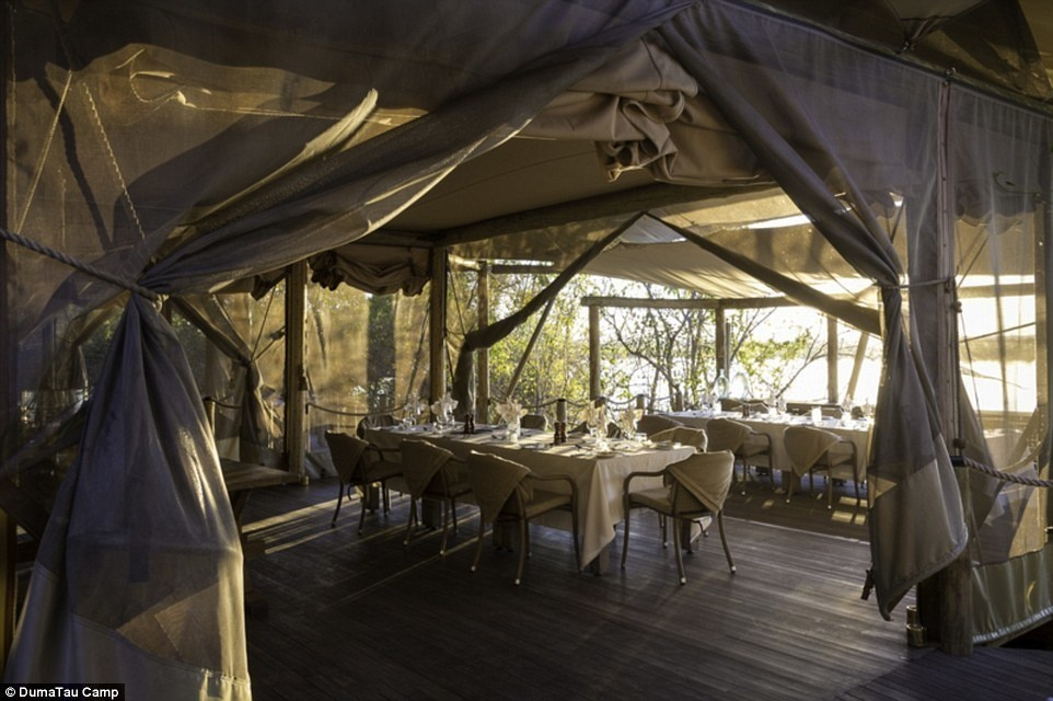 DumaTau Camp, Botswana - 15 Incredible Hotel Rooms Where You Can Sleep Under The Stars.