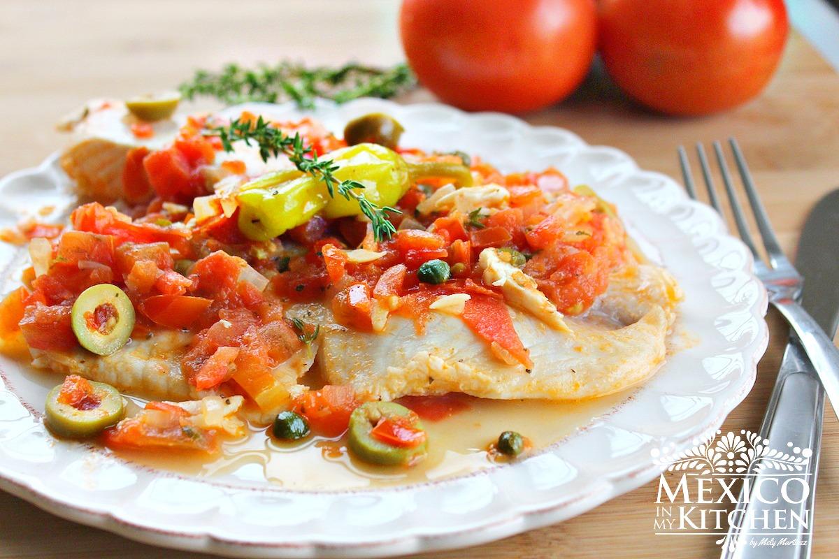 Tilapia veracruz style mexico in my kitchen for Fish veracruz recipe