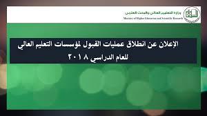 دليل التقديم للقبول لمؤسسات التعليم العالي السودانية للعام الدراسي 2018 - 2019م