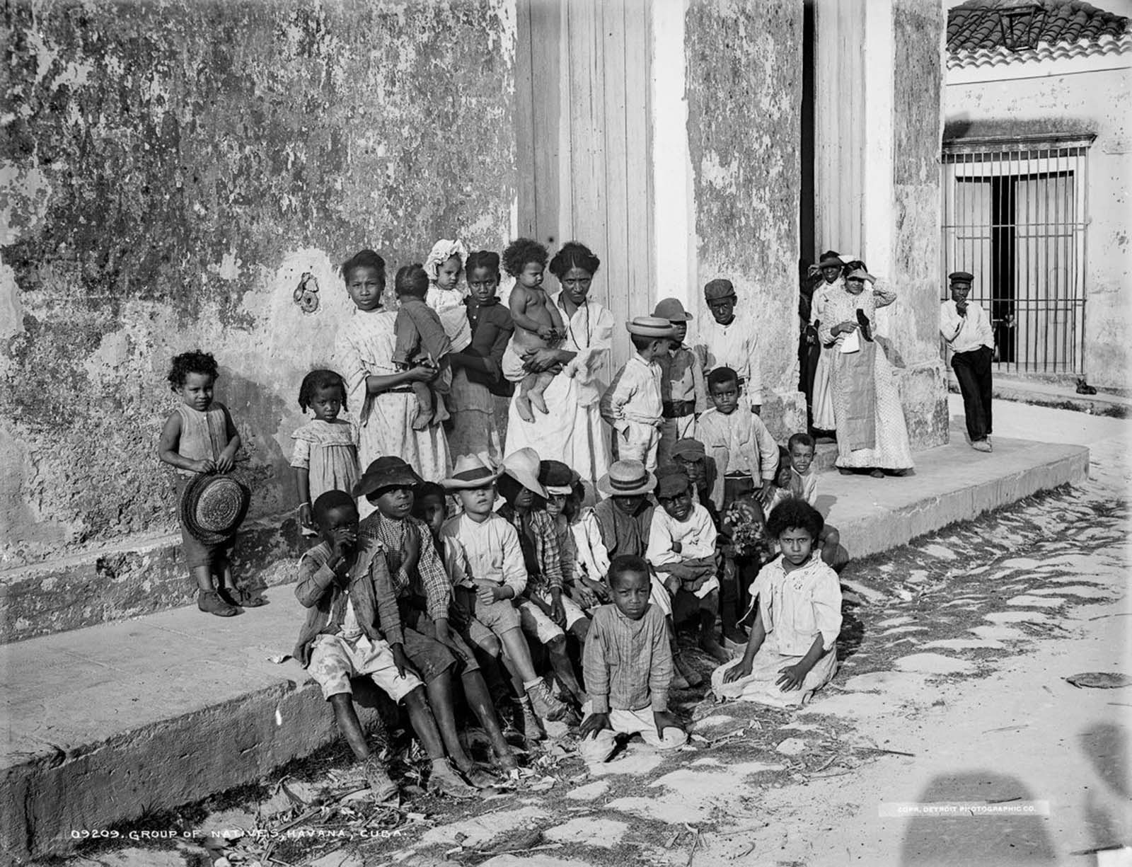 Children in Havana. 1900.
