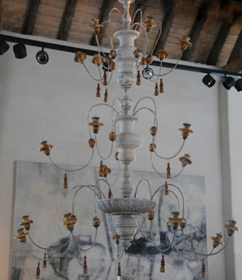 Italian chandelier 160 cm h x 120 cm dia, L's Pick,  available for Garnier Antiques, image via Garnier (be) as seen on linenandlavender.net