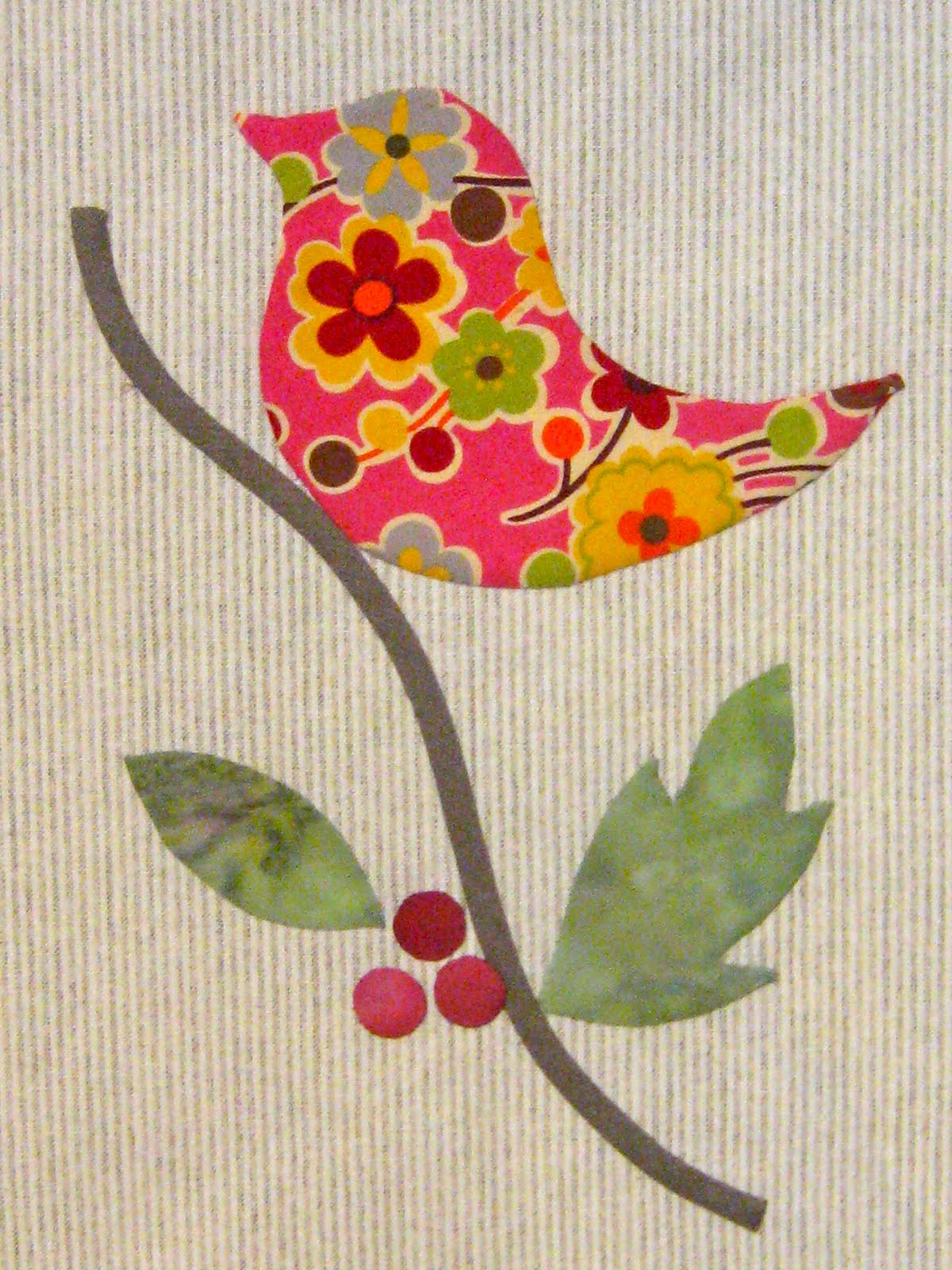Applique Classe 2 Alewivesgirl Birds And Berries Hand Applique For