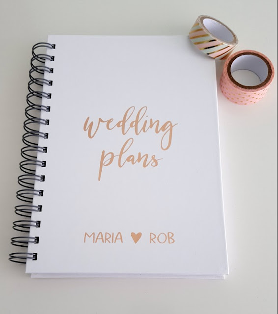 Looking to enhance a wedding planner?  Click to find out how to decorate your planner with washi tape and pretty lettering - it's quick and easy!