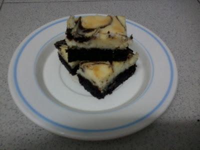 Kek Marble Cheese Brownies