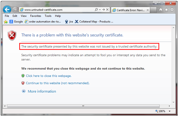 How To Install Certificates Site Navigation Error Of Internet