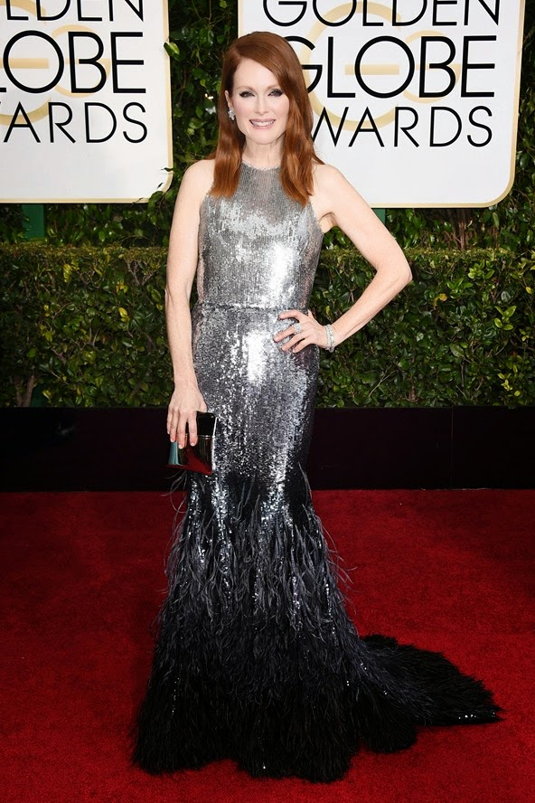 Julianne Moore wore a Givenchy by Riccardo Tisci gown at the Golden Globe Awards 2015
