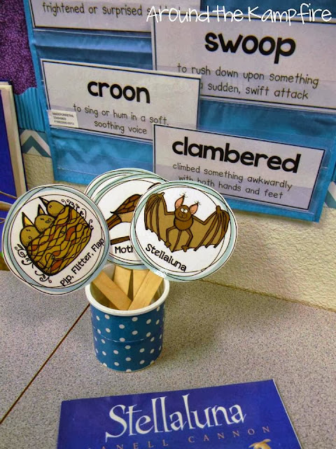 Using fluency sticks with Stellaluna for RL.2.6. Students choose a character then practice reading fluently in the character's imagined voice and from their point of view. You can see in this post how we also charted the different characters' points of view on the same topic. This book is perfect for teaching many RL standards!