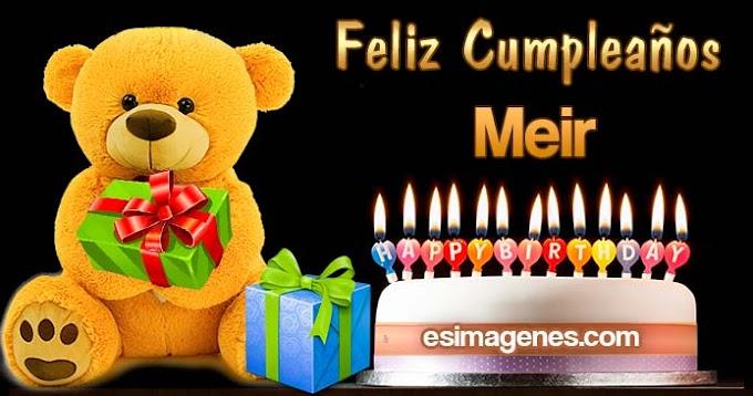 Feliz Cumpleaños Meir