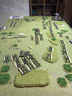 The British defence line is under threat from massive French formations