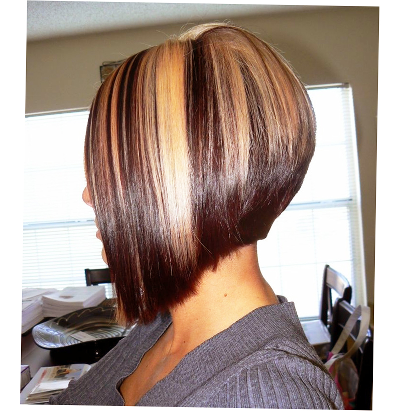 A-Line Bob Haircut With Side Bangs Photo