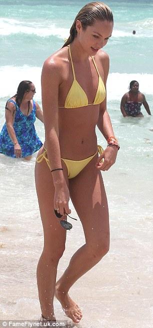 Celeb Diary Candice Swanepoel in Miami
