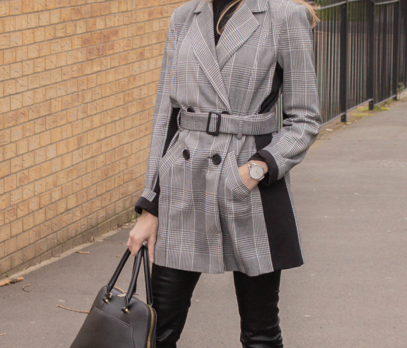 longline belted blazer from River Island