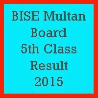 5th Class Result 2017 BISE Multan Board