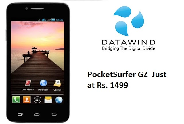 DataWind launches smartphone at Rs 1,499 With 1 year free internet