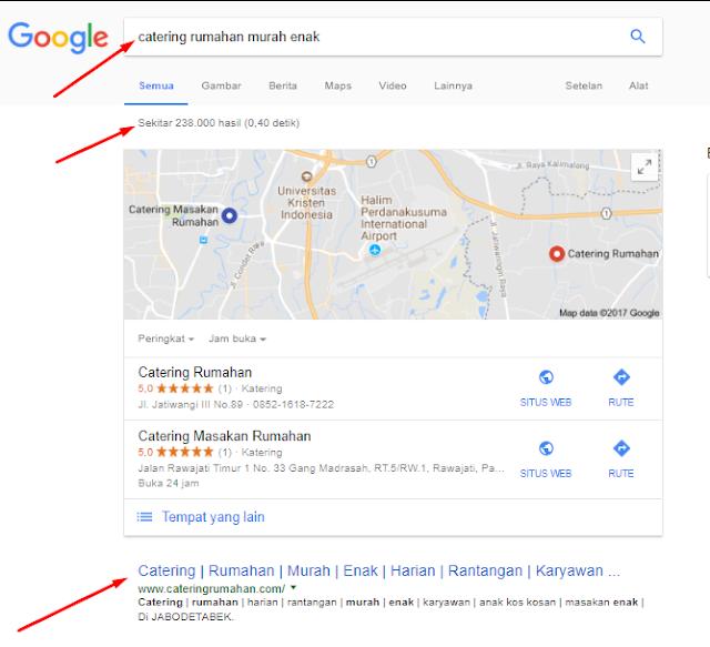 Perbedaan Ranking Satu dan Halaman Satu Google