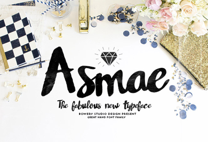 Asmae script font - The Fancy Deal