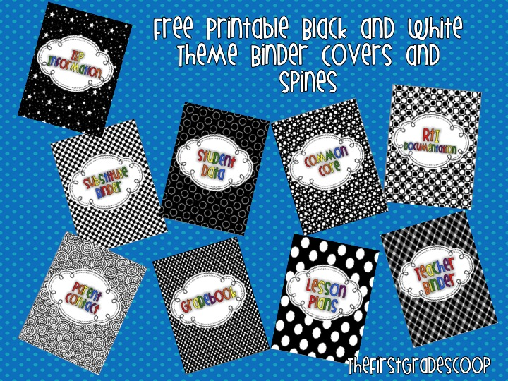 the first grade scoop more free binder covers and spines