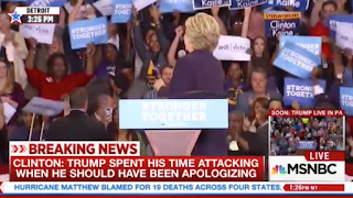 'Bill Clinton Is A Rapist' Protester Interrupts Hillary Clinton's Rally In Detroit